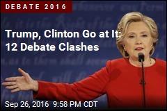 Trump, Clinton Go at It: 5 Debate Tussles