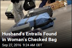 Husband's Entrails Found in Woman's Checked Bag