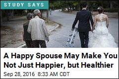 A Happy Spouse May Make You Not Just Happier, but Healthier