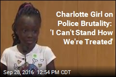 Charlotte Girl Sobs in Speech on Police Brutality
