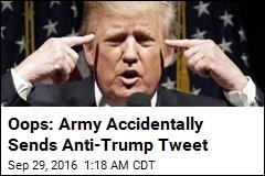Army Apologizes for Anti-Trump Tweet