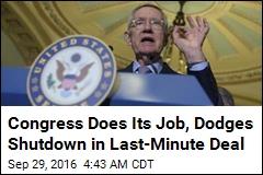 Congress Averts Shutdown With 10-Week Deal