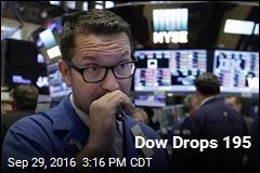 Dow Drops 195