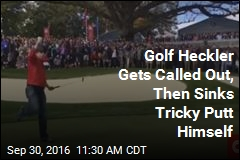 Golf Heckler Gets Called Out, Then Sinks Tricky Putt Himself