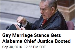 Gay Marriage Stance Gets Alabama Chief Justice Booted