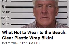 What Not to Wear to the Beach: Clear Plastic Wrap Bikini