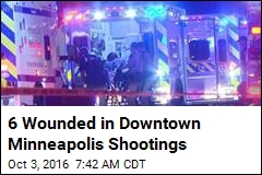 6 Wounded in Downtown Minneapolis Shootings
