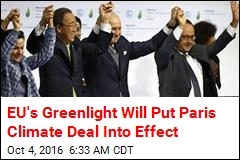 EU's Greenlight Will Put Paris Climate Deal Into Effect
