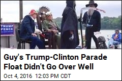 Indiana Parade Float: Trump Executing Clinton