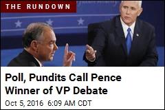 'Cool, Calm' Pence Seen as Debate Winner