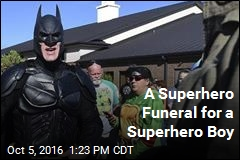 A Superhero Funeral for a Superhero Boy