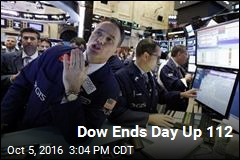 Dow Ends Day Up 112