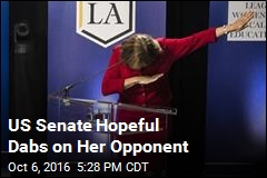 US Senate Hopeful Dabs on Her Opponent