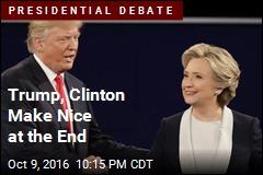 Trump, Clinton Make Nice at the End