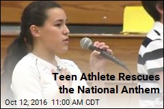 Teen Athlete Rescues the National Anthem