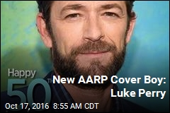 New AARP Cover Boy: Luke Perry