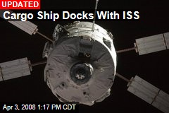 Cargo Ship Docks With ISS
