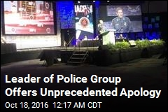 Leader of Police Group Apologizes to Minorities
