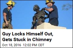 Very Dirty Rescue: Guy Stuck in Own Chimney
