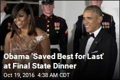 Obama Hosts Final State Dinner