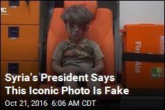 Assad: Iconic Photo of Injured Boy Was Faked