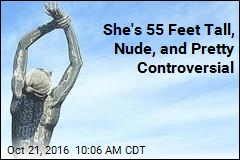 55-Foot Statue of Nude Woman Stands Tall in Calif. City
