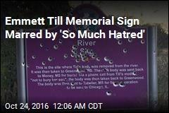 Emmett Till Memorial Sign Riddled With Bullets