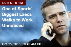 One of Sports' Biggest Execs Walks to Work Unnoticed
