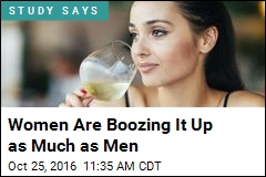 Women Are Boozing It Up as Much as Men