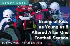Just One Season of Football Can Alter Kids' Brains