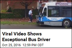 Viral Video Shows Bus Driver Helping Woman Catch Bus