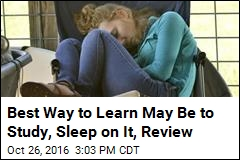 Best Way to Learn May Be to Study, Sleep on It, Review