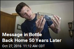 Message in Bottle Back Home 50 Years Later