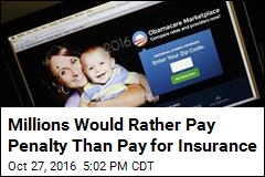 Millions Would Rather Pay Penalty Than Pay for Insurance
