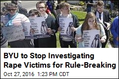 BYU to Stop Investigating Rape Victims for Rule-Breaking