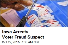 Iowa Arrests Voter Fraud Suspect