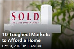 10 Toughest Markets to Afford a Home