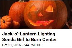 Jack-o'-Lantern Lighting Sends Girl to Burn Center