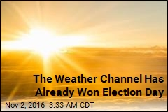 The Weather Channel Has Already Won Election Day