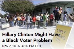 Hillary Clinton Might Have a Black Voter Problem