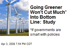 Going Greener Won't Cut Much* Into Bottom Line: Study