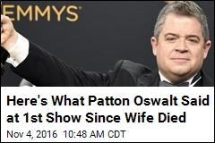 Here's What Patton Oswalt Said at 1st Show Since Wife Died