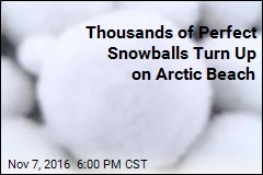 Perfect Snowballs Turn Up on Arctic Beach