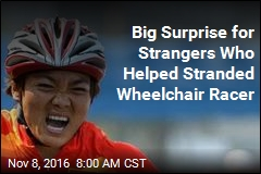 NYC Shows Stranded Wheelchair Racer Its Big Apple Heart