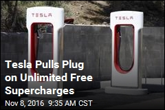 Tesla Pulls Plug on Unlimited Free Supercharges