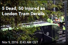 5 Dead, 50 Injured as London Tram Derails