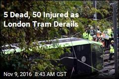 5 Dead, 50 Injured as London Tram Derails