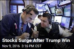 Stocks Surge After Trump Win