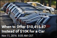 When to Offer $10,415.87 Instead of $10K for a Car