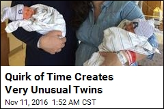 Quirk of Time Creates Very Unusual Twins